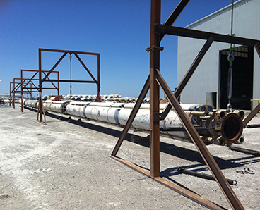 Drilling riser ready for damping test