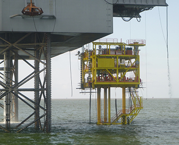 unmanned conductor supported offshore platform