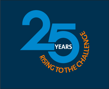 2H 25th anniversary logo