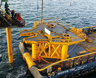 shallow water early production platform installation