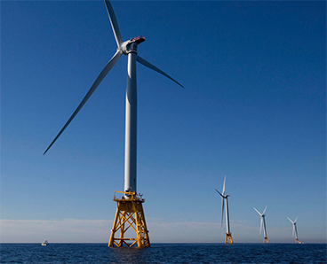 image of a fixed offshore wind foundation